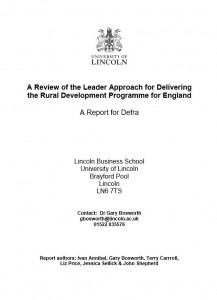 Review of the Leader Approach for Delivering the Rural Development programme for England